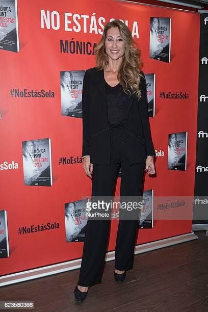 Monica Pont presents the book quotNo estás solaquot in Madrid Spain on November 15 2016