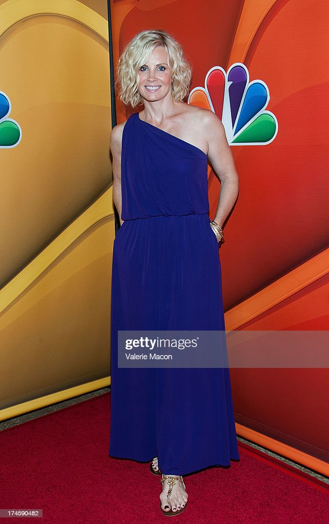 Monica Potter arrives at the NBCUniversal's '2013 Summer TCA Tour' at The Beverly Hilton Hotel on July 27, 2013 in Beverly Hills, California.