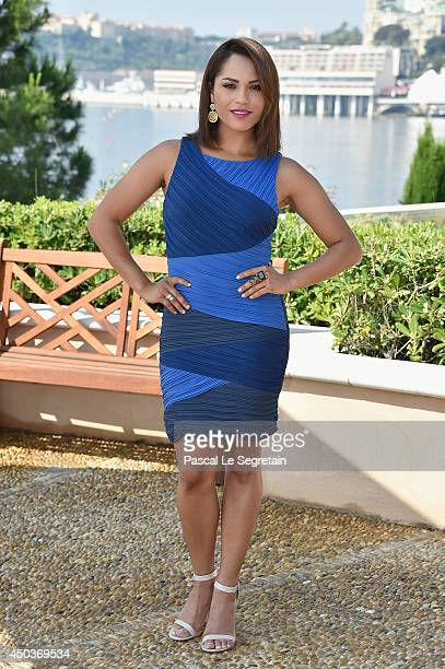 Monica Raymund attends a photocall for the TV Show ' Chicago Fire' as part of the 54th MonteCarlo Television Festival on June 10 2014 in MonteCarlo...