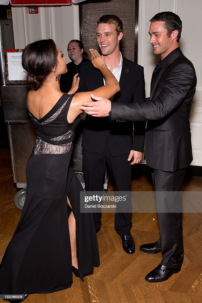 Raymund jesse spencer and taylor kinney attend the nbc s chicago