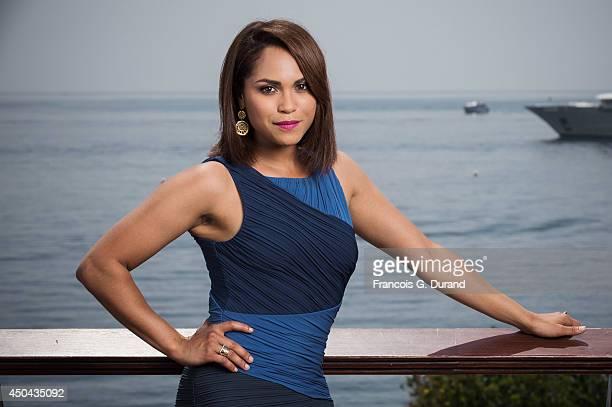 Monica Raymund poses during a portrait session at Grimaldi Forum on June 10 2014 in Monaco Monaco