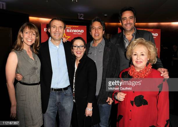 Monica Rosenthal writer/director Phil Rosenthal Patricia Heaton Ray Romano Brad Garrett and Doris Roberts attend the Los Angeles Premiere of...