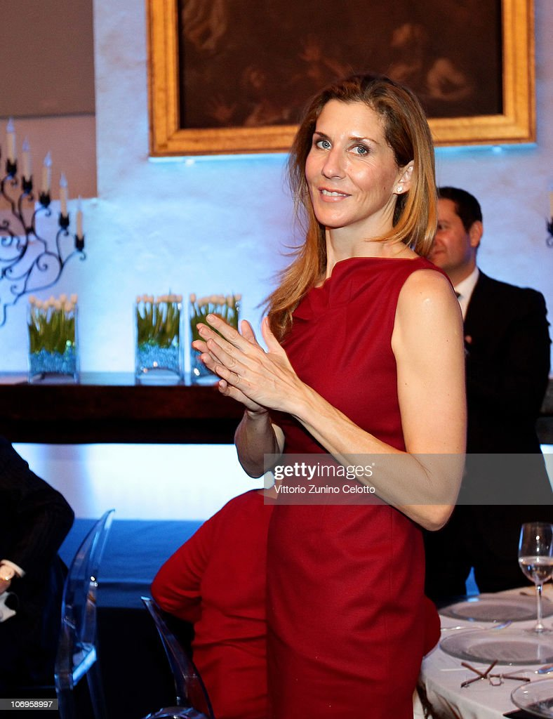 Monica Seles attends the Laureus Sport For Good Foundation Banquet held at Pinacoteca di Brera on November 18, 2010 in Milan, Italy.