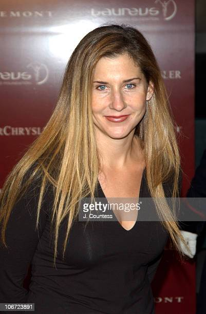 Monica Seles during Mercedes Benz Live Auction to Benefit the Laureus Sport for Good Foundation Arrivals at Christie's in New York City New York...