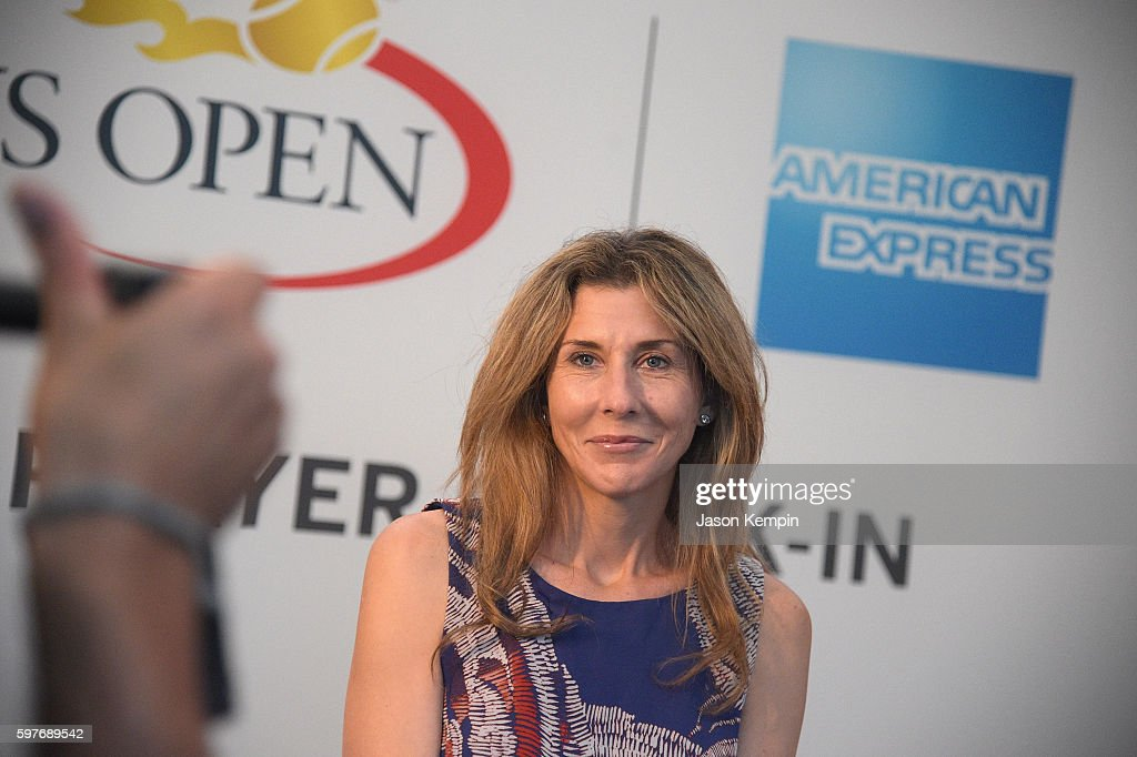 Monica Seles Surprises Fans Inside The American Express Pro Walk At The 2016 US Open