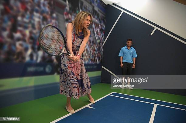 Monica Seles surprises fans inside The American Express Pro Walk at The 2016 US Open at USTA Billie Jean King National Tennis Center on August 29...