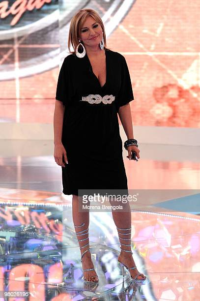 Monica Setta appears on the ''L'Isola dei famosi'' television show on March 24 2010 in Milan Italy