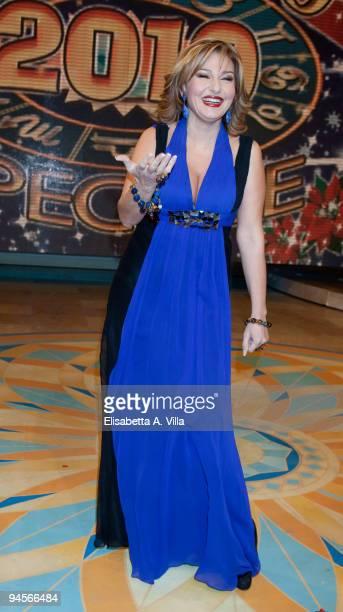Monica Setta attends the Italian TV program '2009 Horoscope' by Paolo Fox at RAI studios on December 16 2009 in Rome Italy