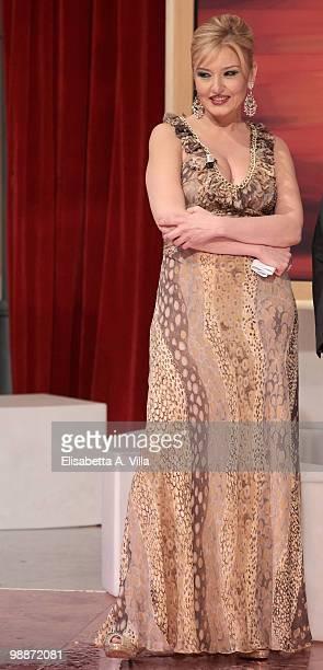 Monica Setta attends the ''Lotto Per Amore'' TV show at RAI studios on May 5 2010 in Rome Italy