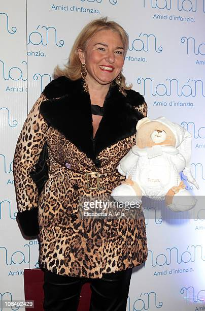 Monica Setta attends the Nanan Flagship Store Opening on January 27 2011 in Rome Italy