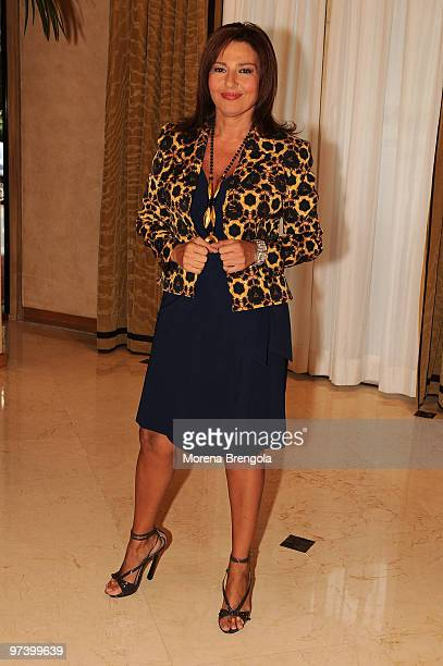 Monica Setta poses during the presentation of the new season of Rai 2 television on September 16 2009 in Milan Italy