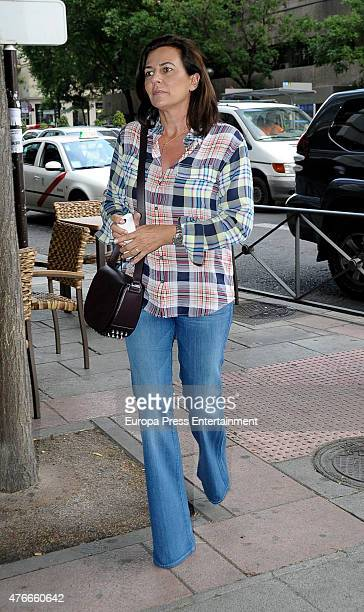 Monica Silva attends the babyshower party of Gemma RuizCuadrado on June 10 2015 in Madrid Spain