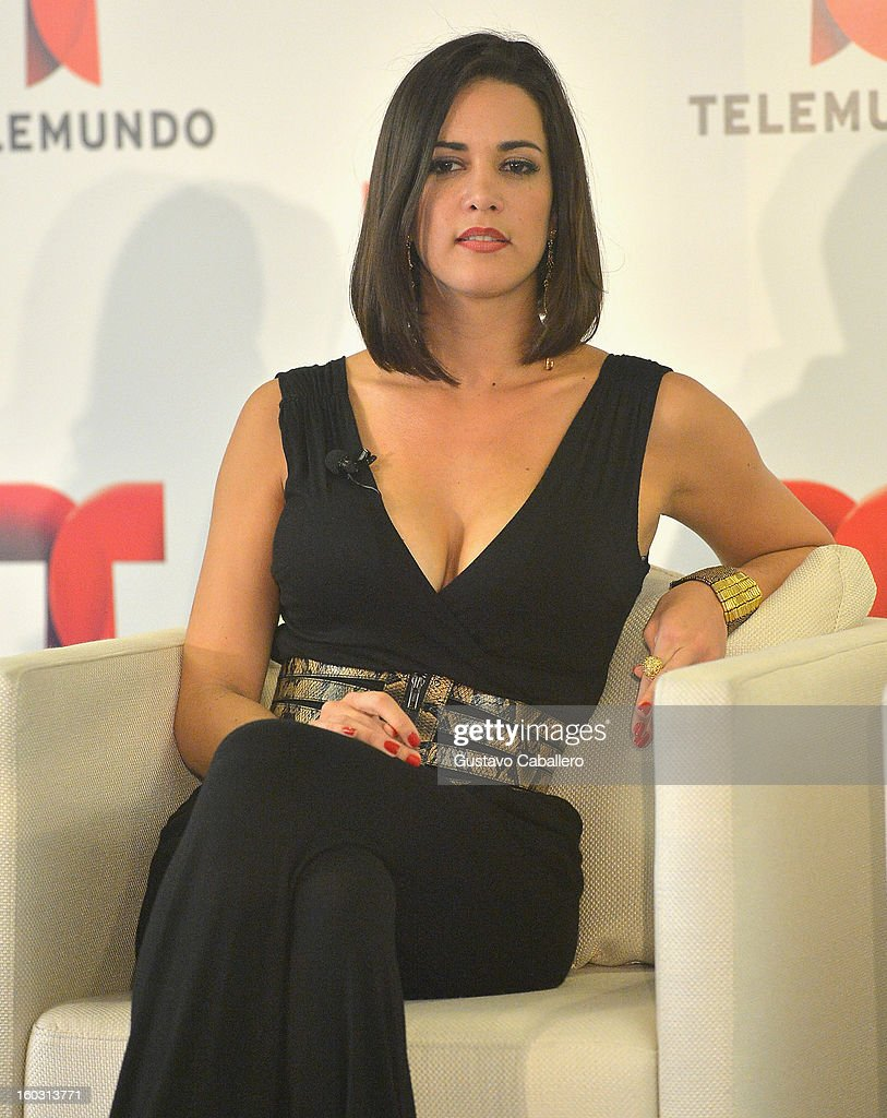 Monica Spear attends Telemundo NATPE 2013 Press Conference And Luncheon at Eden Roc Hotel on January 28, 2013 in Miami Beach, Florida.
