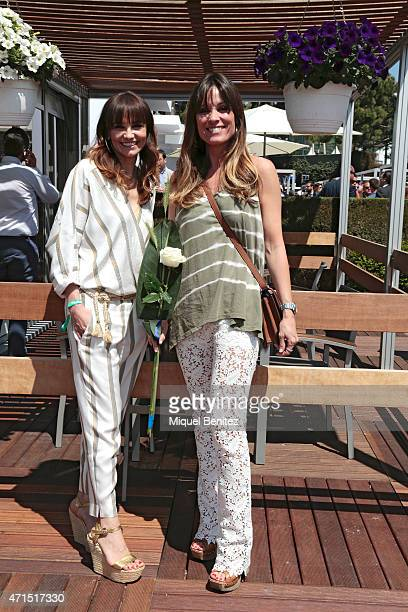 Monica wears a Maje suit a Bulgari wristwatch a sandals from Formentera market and Cristina wears a Seventees top a Maje trousers MiuMiu vintage...