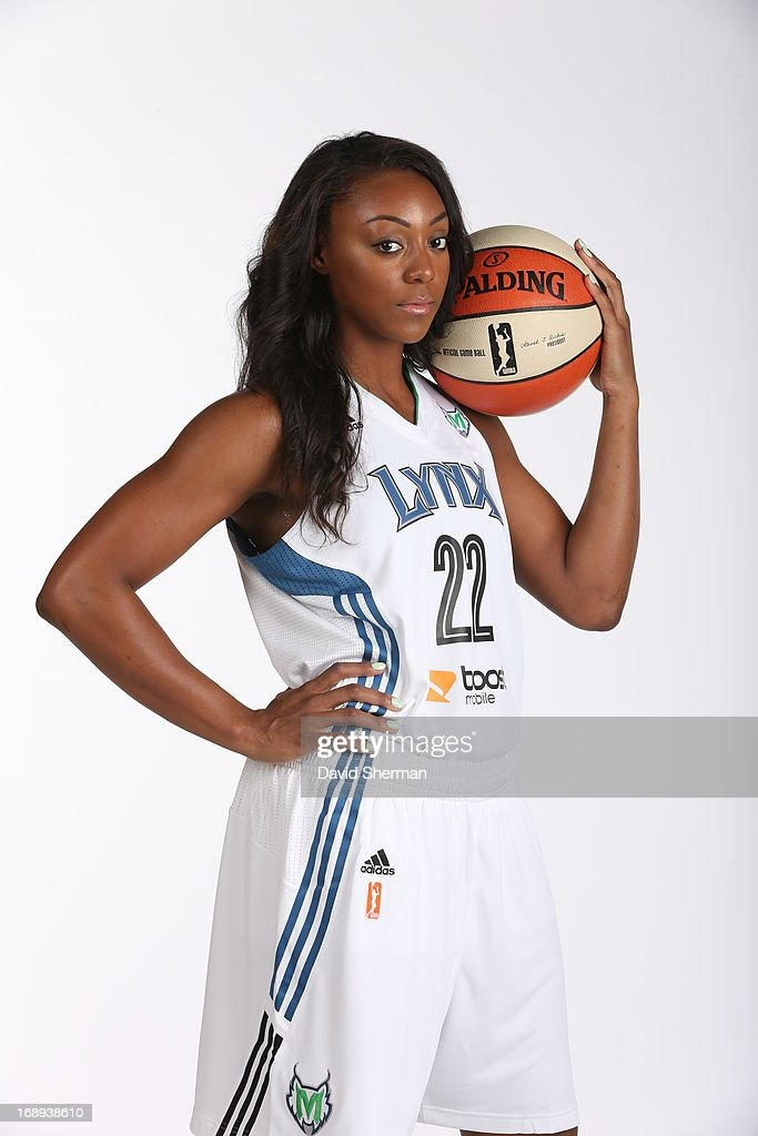 Monica Wright #22 of the Minnesota Lynx poses for portraits during 2013 Media Day on May 16, 2013 at the Minnesota Timberwolves and Lynx LifeTime Fitness Training Center at Target Center in Minneapolis, Minnesota.