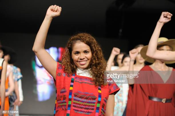 Monica Xerrano fashion designer Monica Serrano walks the runway at 2017 Vancouver Fashion Week Day 4 on September 21 2017 in Vancouver Canada