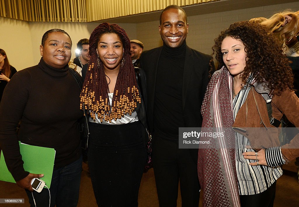 Monica Young, Reneeka 'Grumpy' Versey, Jeff Cohran and Pam Rocks attend The 55th Annual GRAMMY Awards - GRAMMY Camp Basic Training held on the campus of USC - Booth Ramos Hall on February 6, 2013 in Los Angeles, California.