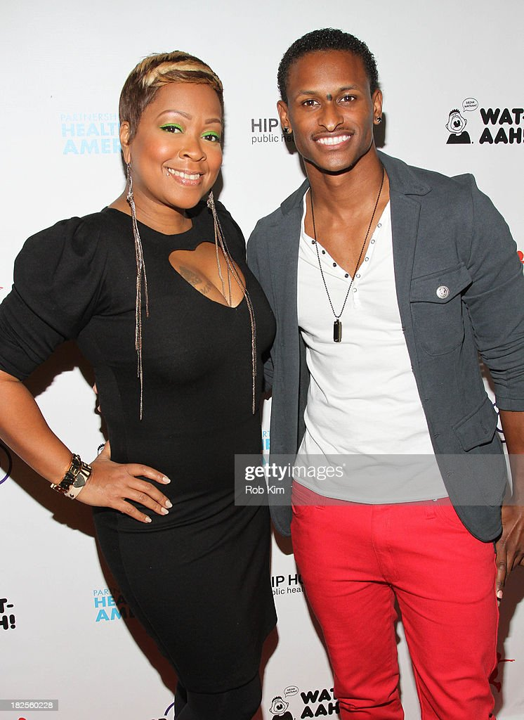 Monifah (L) and J Rome attend the 2013 kick-off event for Songs for a Healthier America at Symphony Space on September 30, 2013 in New York City.