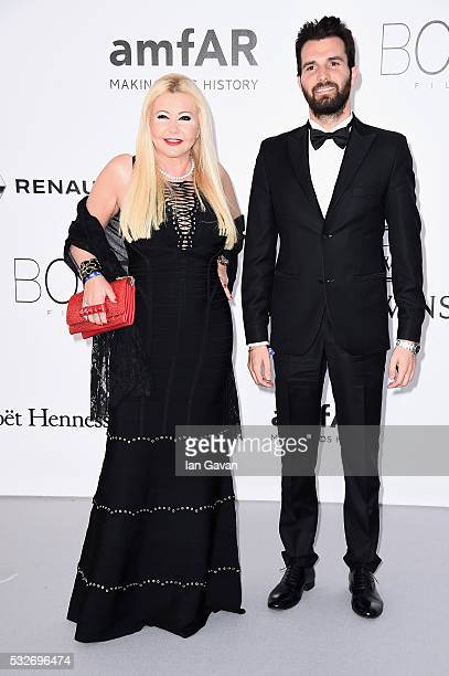 Monika Bacardi and Andrea Iervolino arrive at amfAR's 23rd Cinema Against AIDS Gala at Hotel du CapEdenRoc on May 19 2016 in Cap d'Antibes France