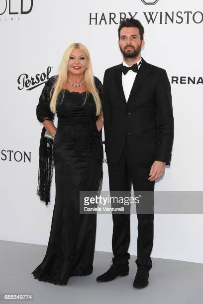 Monika Bacardi and Andrea Iervolino arrive at the amfAR Gala Cannes 2017 at Hotel du CapEdenRoc on May 25 2017 in Cap d'Antibes France