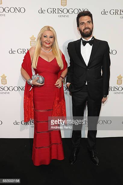 Monika Bacardi and Andrea Iervolino attend the De Grisogono Party during the annual 69th Cannes Film Festival at Hotel du CapEdenRoc on May 17 2016...
