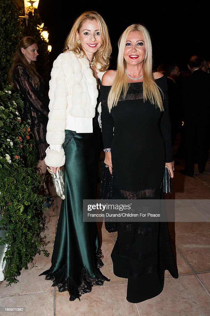 Monica Bacardi (R) and Angela Calabro attend the 'Opera Romeo and Juliette' : Gala to the benefit of the The Children for Peace association, on October 26, 2013 in Monte-Carlo, Monaco.