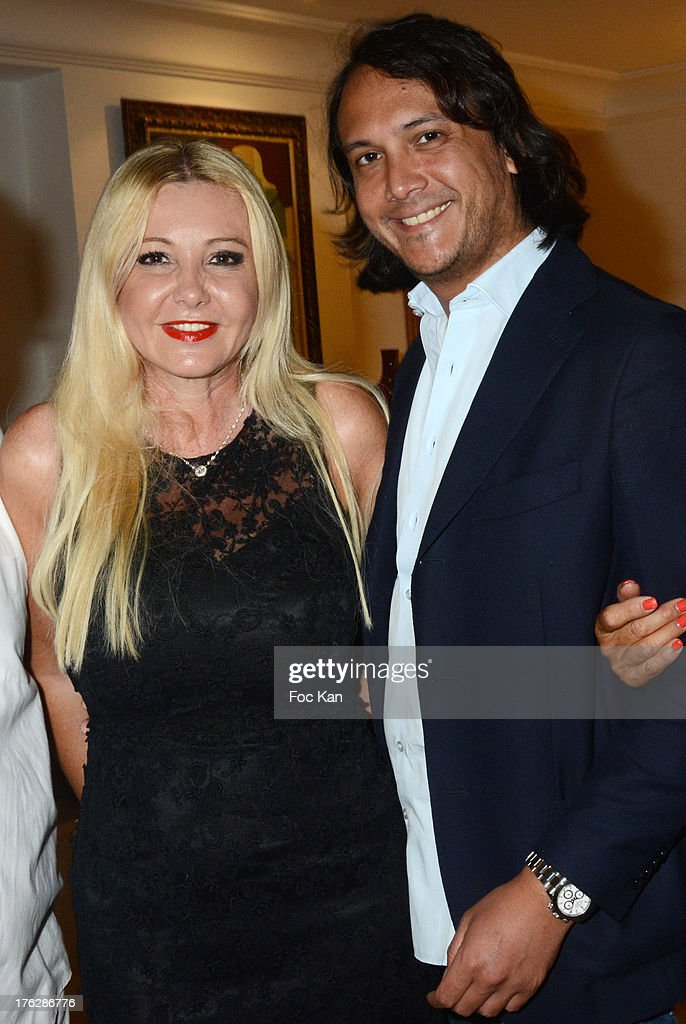 Monika Bacardi and David Kane attend the Massimo Gargia's Party hosted by Richard Roizen at Villa Les Acanthes In Saint-Tropez on August 11, 2013 in Saint Tropez, France.