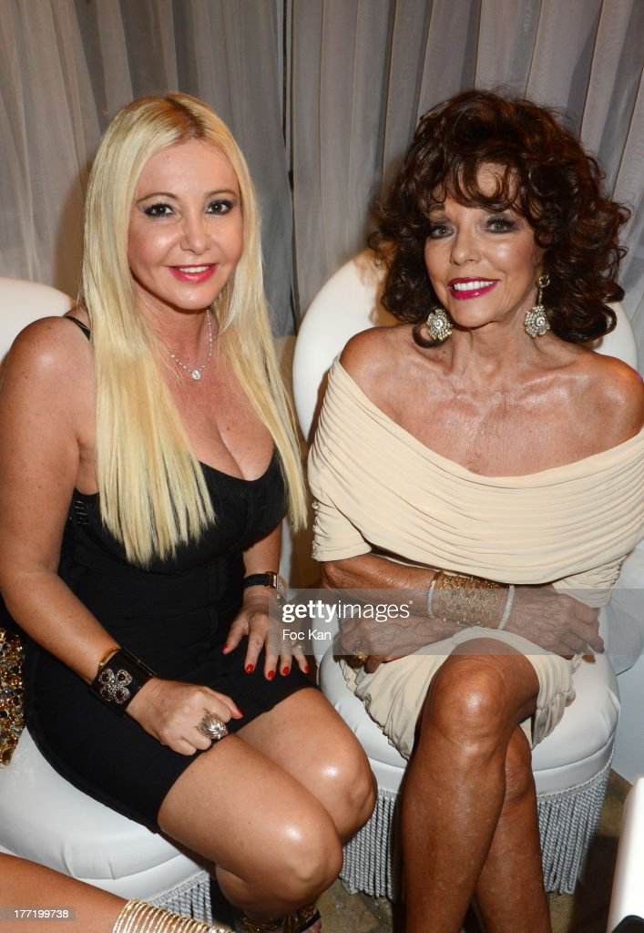 Monika Bacardi and <a gi-track='captionPersonalityLinkClicked' href=/galleries/search?phrase=Joan+Collins&family=editorial&specificpeople=109065 ng-click='$event.stopPropagation()'>Joan Collins</a> attend the Massimo Gargia's Birthday Dinner at Moulins de Ramatuelle on August 21, 2013 in Saint Tropez, France.