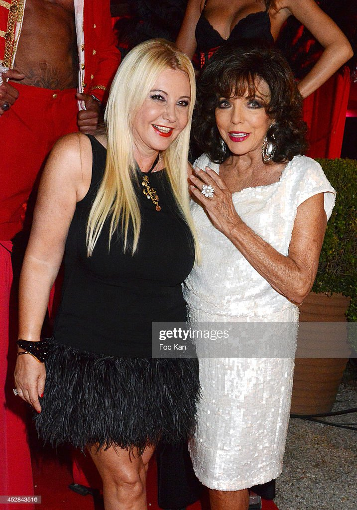 Monika Bacardi and Joan Collins attend the Monika Bacardi Summer Party 2014 St Tropez at Les Moulins de Ramatuelle on July 27, 2014 in Saint Tropez, France. Ê