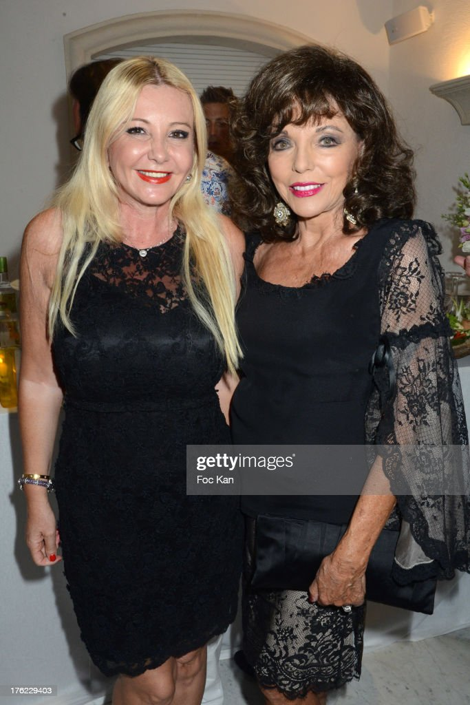 Monika Bacardi and <a gi-track='captionPersonalityLinkClicked' href=/galleries/search?phrase=Joan+Collins&family=editorial&specificpeople=109065 ng-click='$event.stopPropagation()'>Joan Collins</a> attend tthe Massimo Gargia's Party hosted by Richard Roizen at Villa Les Acanthes In Saint-Tropez on August 11, 2013 in Saint Tropez, France.