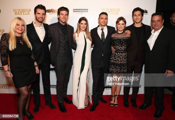 Monika Bacardi Andrea Iervolino Ashley Greene James Franco Ahna O'Reilly Nat Wolff and Scott Reed attend the premiere of Momentum Pictures' 'In...