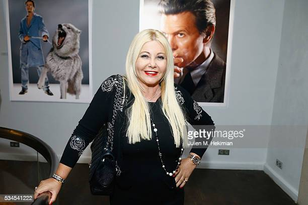 Monika Bacardi attends the David Bowie Unseen By Markus Klinkoon Exhibition Opening at Artcube Galery on May 26 2016 in Paris France