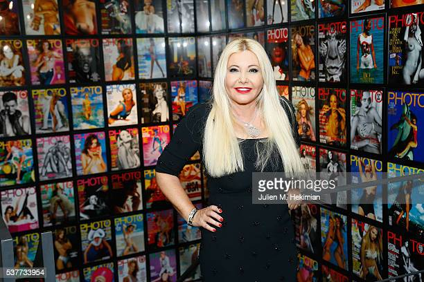 Monika Bacardi attends the Opening Photo House Photo Gallery In Bruxelles With Photo Magazine on June 2 2016 in Brussels Belgium