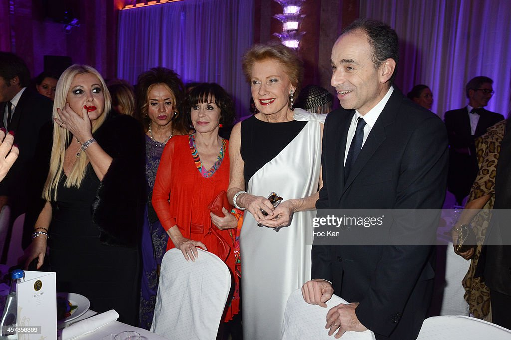 Monika Bacardi, Daniele Evenou, Monique Raymond and Jean Francois Cope attend 'The Best 2013' Ceremony Awards 37th Edition at the Salons Hoche on December 16, 2013 in Paris, France.