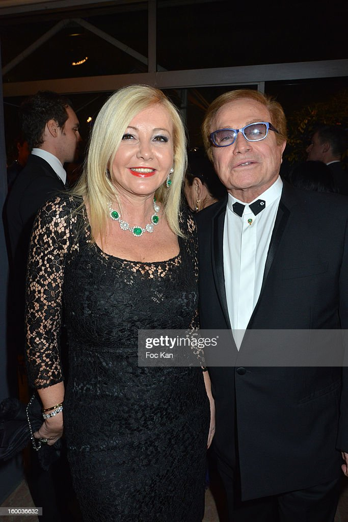 Monika Baccardi and Orlando attend the Sidaction Gala Dinner 2013 at Pavillon d'Armenonville on January 24, 2013 in Paris, France.