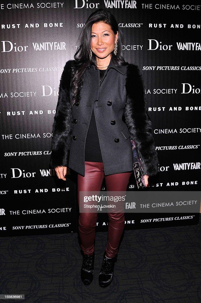 Monika Chiang attends The Cinema Society with Dior & Vanity Fair screening of 'Rust and Bone' at Landmark's Sunshine Cinema on November 8, 2012 in New York City.