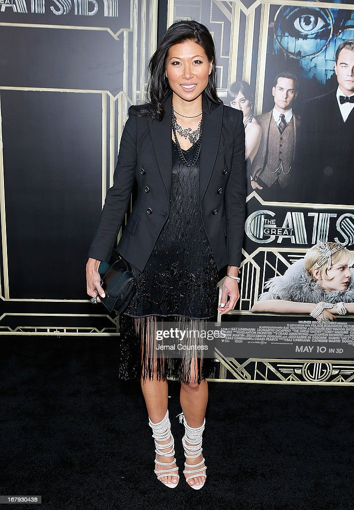 Monika Chiang attends the 'The Great Gatsby' world premiere at Avery Fisher Hall at Lincoln Center for the Performing Arts on May 1, 2013 in New York City.