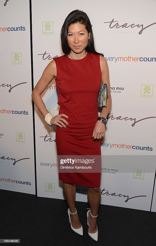 Monika Chiang attends The Tracy Anderson Method Pregnancy Project at Le Bain At The Standard on October 5, 2012 in New York City.