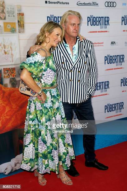 Monika Gruber and Detlev Buck during the premiere of ''Das Pubertier'' at Mathaeser Filmpalast on July 4 2017 in Munich Germany
