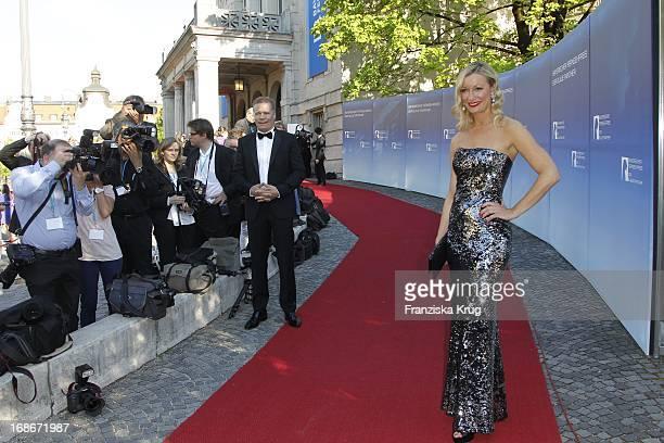 Monika Gruber and partner Andreas Steinfatt at The Bavarian Television Award at Prinzregententheater in Munich