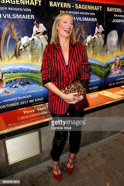 Monika Gruber attends the 'Bayern sagenhaft' Premiere at Filmtheater Sendlinger Tor on October 19 2017 in Munich Germany