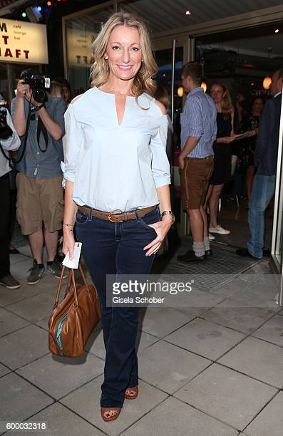 Monika Gruber during the preview for the series 'Moni's Grill' at 'Atelier' cinema on September 7 2016 in Munich Germany