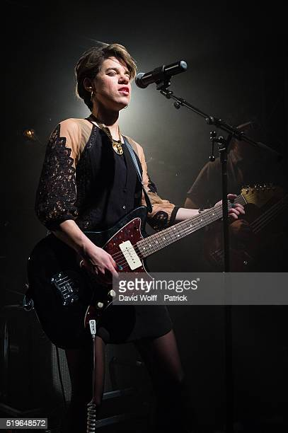 Monika performs during Pias Nites at La Fleche d'Or on April 7 2016 in Paris France