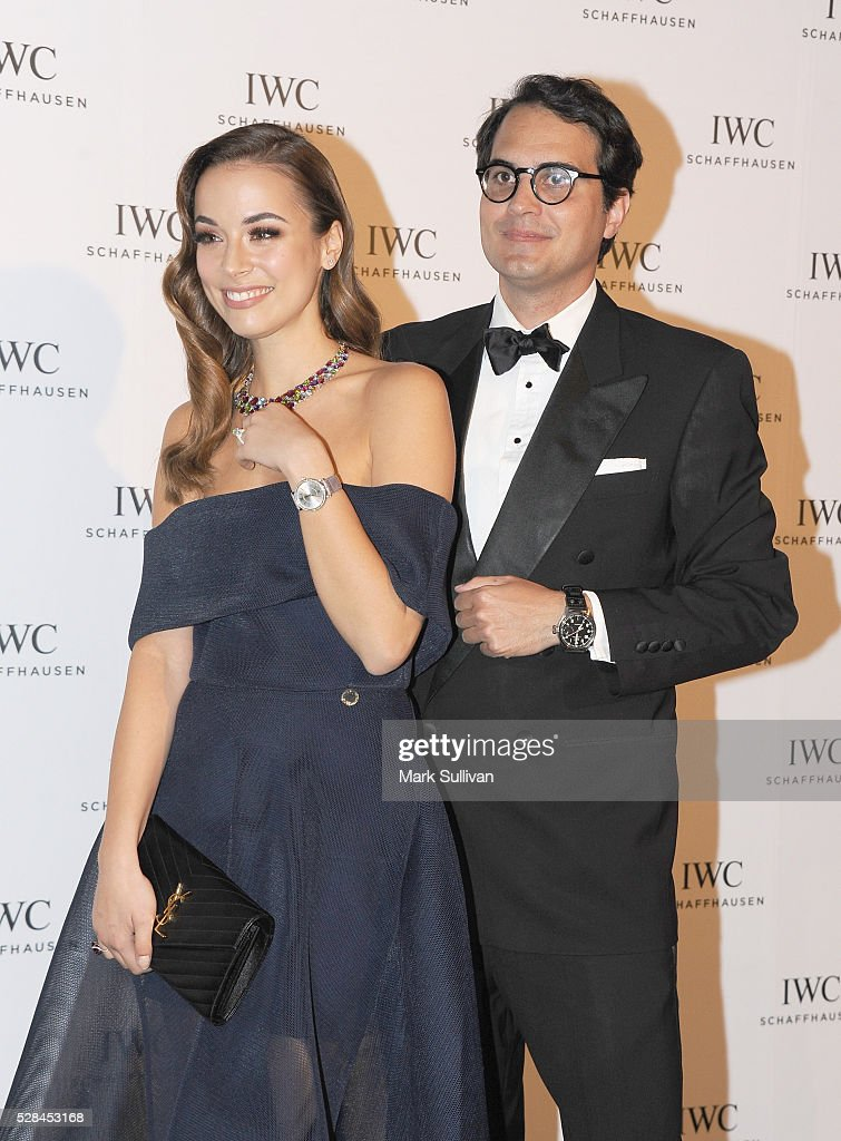 Monika Radulovic (L) and Christian Westermeyer attend the launch of IWC Schaffhausen's pilots watch launch at Sydney Theatre Company on May 5, 2016 in Sydney, Australia.