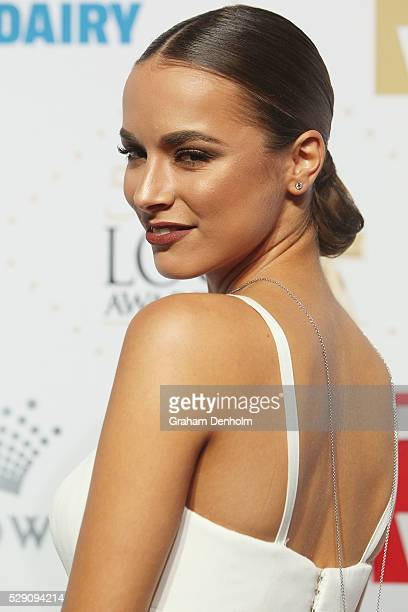 Monika Radulovic arrives at the 58th Annual Logie Awards at Crown Palladium on May 8 2016 in Melbourne Australia