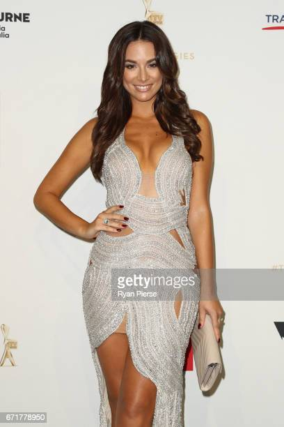 Monika Radulovic arrives at the 59th Annual Logie Awards at Crown Palladium on April 23 2017 in Melbourne Australia