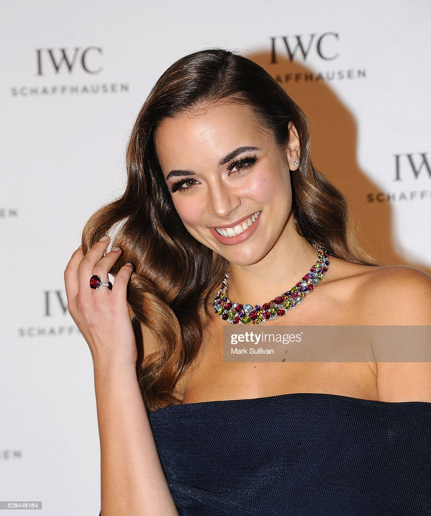 Monika Radulovic attends the lauch of IWC Schaffhausen's pilots watch launch at Sydney Theatre Company on May 5, 2016 in Sydney, Australia.