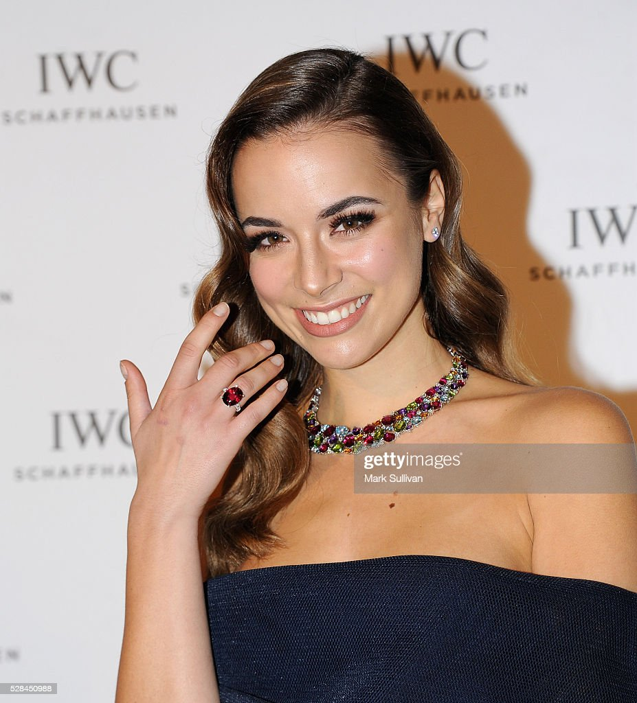Monika Radulovic attends the launch of IWC Schaffhausen's pilots watch launch at Sydney Theatre Company on May 5, 2016 in Sydney, Australia.