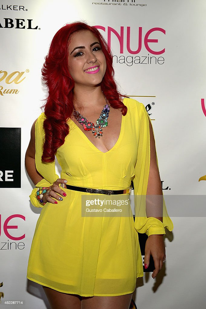 Monique Abbadie arrives at Cavalli Miami on July 16, 2014 in Miami Beach, Florida.
