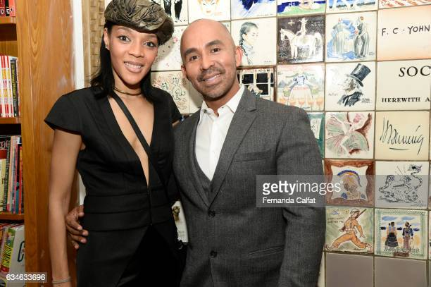 Monique and Raul Penaranda attend the Raul Penaranda presentation during New York Fashion Week at The Society Of Ilustrators on February 10 2017 in...